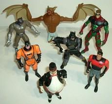 Lot Of 7 Vintage Batman Kenner Action Figures 1990's, Man Bat,Robin,Bruce Wayne - $24.70