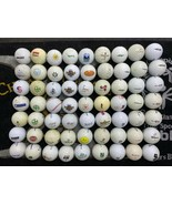 63 Logo Golf Balls of Various Brands Like Hard Rock, Marlboro, Lexus, Other - $32.71