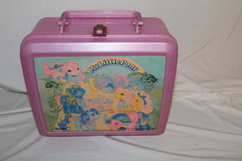 1989 Vintage Hasbro My LIttle Pony Plastic lunchbox 1989 Thermos Brand - $9.75