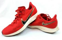 Nike Air Zoom Pegasus 36 Red Metallic Gold Sequin Ladies Size 8.5 CT115... - $29.99