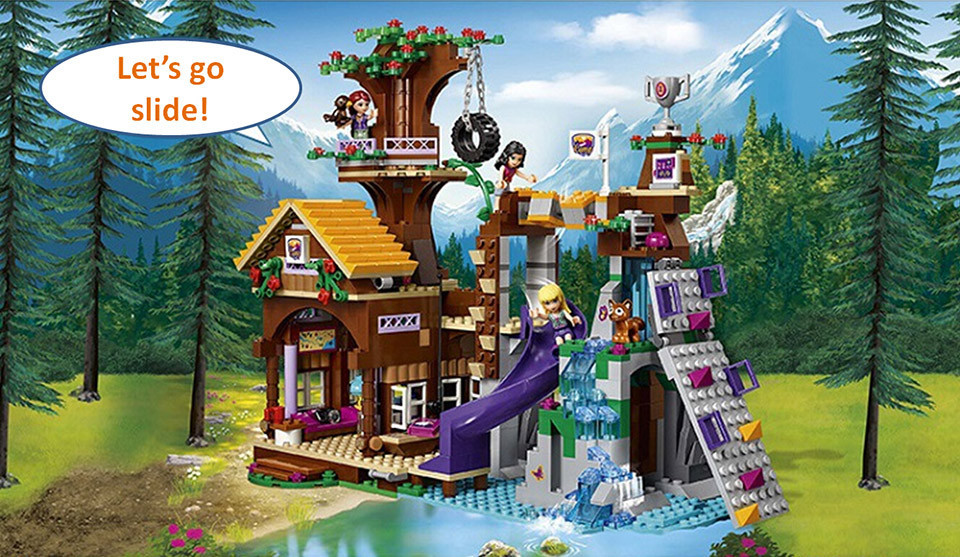 Compatible lepin friends adventure camp tree house