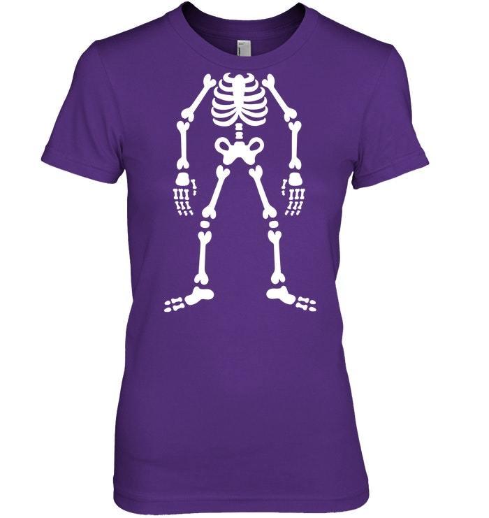 Funny skeleton cheap Halloween costume Tshirt gift