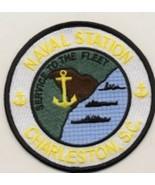 "4"" NAVY NAVAL STATION CHARLESTON SOUTH CAROLINA ROUND EMBROIDERED JACKET... - $23.74"