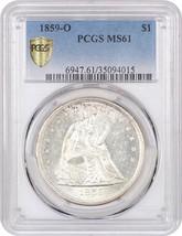 1859-O $1 PCGS MS61 - Frosty O-Mint - Liberty Seated Dollar - Frosty O-Mint - $2,260.10