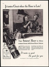 Vintage magazine ad HIRES ROOT BEER from 1937 with RJ bottle and girls p... - $12.99