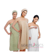 Luxury Microfiber Spa Wrap, Snap Closure S-M, AG6003 - $26.95+