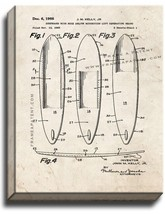 Surfboard Patent Print Old Look on Canvas - $39.95+