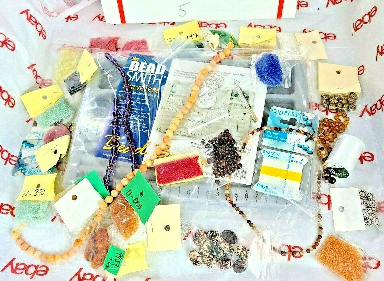 JEWELRY MAKING DIY BEAD BOARD, BEADS & BEADING MATERIAL See Photos (Bx5)