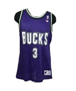 Vintage Champion Jersey Milwaukee Bucks Shawn Respert #3 Men's 44 90s NBA - $49.99