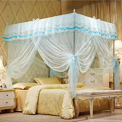 Uozzi bedding 4 corners post turquoise canopy bed curtain - Canopy bed ideas for adults ...