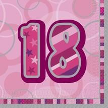 Unique Party Pink Glitz Lunch Napkins - 18 #bci - $9.49