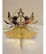 "Danbury Mint - 1989 Gold Christmas Ornament -  ""Christmas Angels"" (A5) - $12.95"
