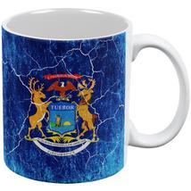Michigan Vintage Distressed State Flag All Over Coffee Mug - $16.95