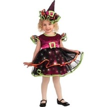 Rubies Light Up Confetti Witch Toddler Halloween Costume 2T - $27.02