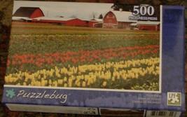 BRAND NEW FACTORY SEALED 500 Piece Puzzlebug Jigsaw Puzzle Tulip Farm - $6.92