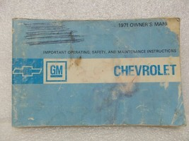 1971 Chevrolet Chevy Owners Manual 15977 - $16.82