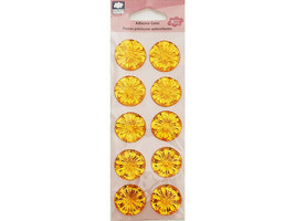 Cloud 9 Designs Adhesive Gem Stickers, Gold #60857
