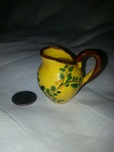 """Miniature floral pitcher doll house?  Hand painted Italy """" Ce """" - $7.39"""
