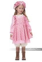 California Costumi Little Prairie Vestito Bambina Costume Halloween 00127 - $26.13