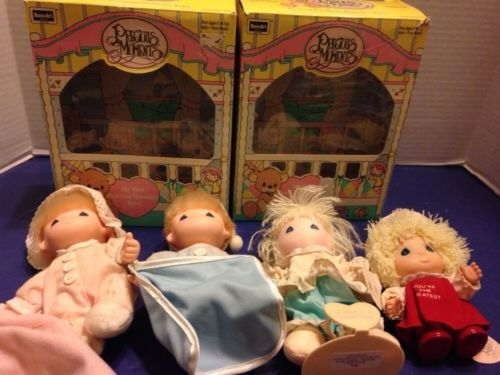 Primary image for Precious Moments Baby Lot Vintage Applause Enesco Rose Art Lot Of 4