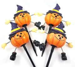 Pumpkin Jack O Lantern Witch Blow Molds Halloween Lawn Stakes Yard Decor... - $49.39