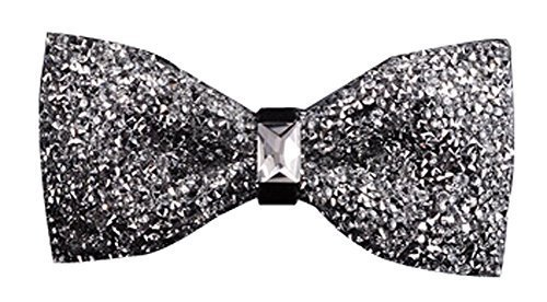 Luxury Neckties Man's Super Set Auger Bow Ties Fashion Bowtie Silvery