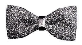 Luxury Neckties Man's Super Set Auger Bow Ties Fashion Bowtie Silvery - $12.28