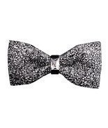 Luxury Neckties Man's Super Set Auger Bow Ties Fashion Bowtie Silvery - ₨791.22 INR