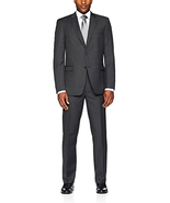 Tommy Hilfiger Men's 2 Button, Side Vented Suit With Flat Front Pants, Grey - $222.40