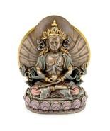 "LONG LIFE BUDDHA STATUE 6.25"" Buddhist Icon of Longevity Bronze Resin Amitayus - $39.95"