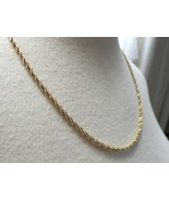 "14k Chain Necklace Sign BBB 13.8g Rope Twist 20.5"" Solid 2.5mm Yellow Go... - $544.49"