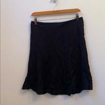 Zara basics size medium solid black skirt - $25.74