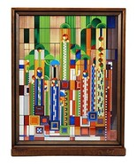 Ebros Frank Lloyd Wright Saguaro Forms and Cactus Flowers Stained Glass ... - $129.99