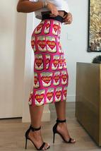 Trendy Printed  Straight Mid Calf Skirt - $24.40