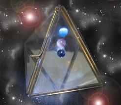 HAUNTED PYRAMID TRANSMUTE ALL NEG TO POSITIVE BOX GOLDEN ROYAL OOAK MAGICK - $444.44