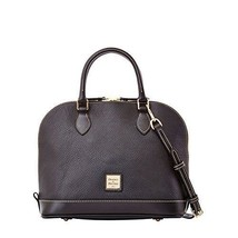 Dooney & Bourke Pebble Grain Zip Zip Satchel,Black/Black - $283.22