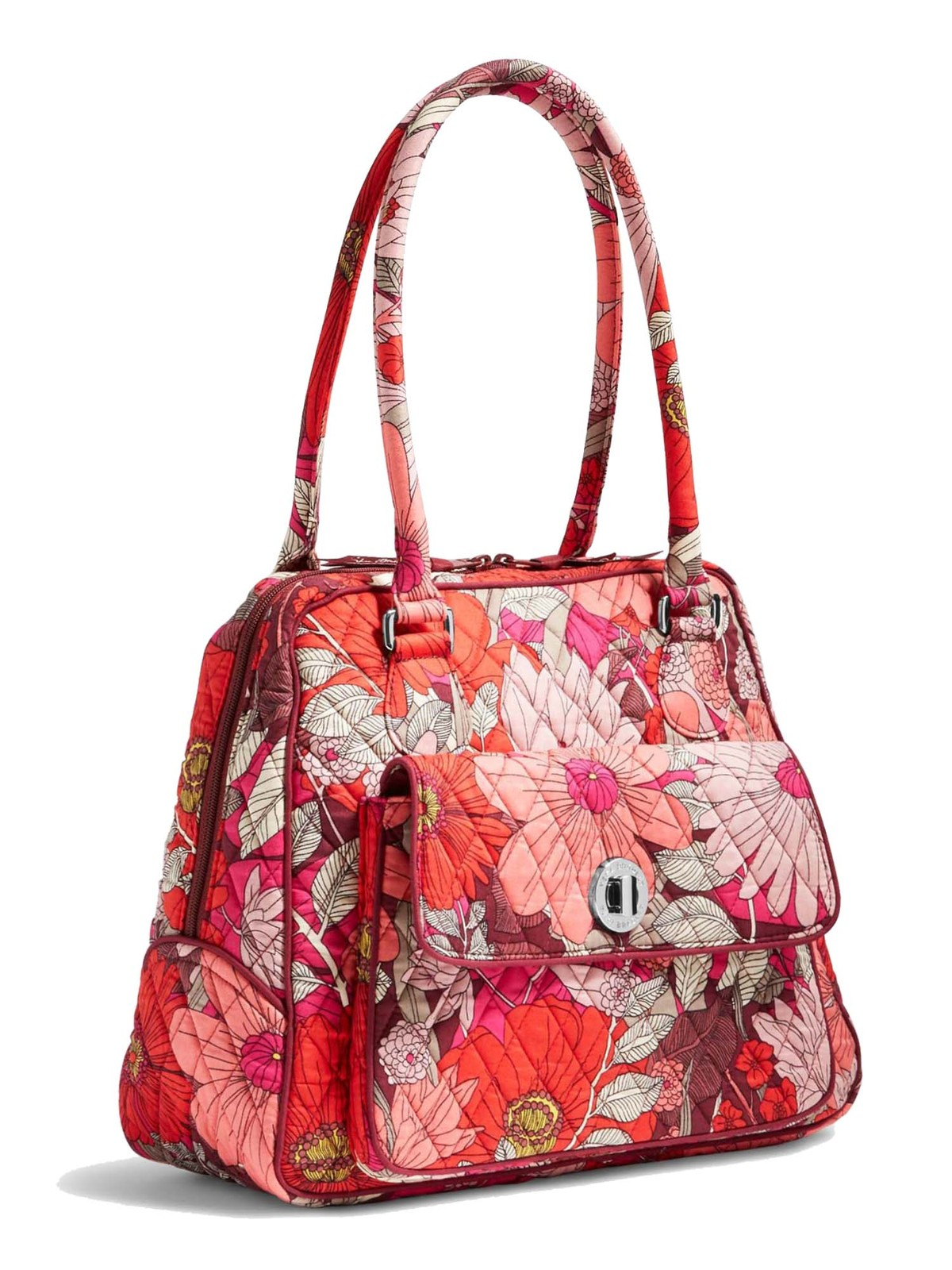 Vera Bradley Signature Cotton Turnlock Satchel Bag, Bohemian Blooms