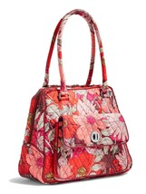 Vera Bradley Signature Cotton Turnlock Satchel Bag, Bohemian Blooms - $79.90