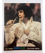 Rare & Collectible Elvis Presley Del Webb's Sahara Tahoe Souvenir Menu '... - $46.74