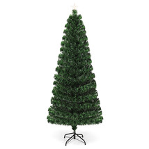 Costway 7Ft Fiber Optic Artificial Christmas Tree w/275 Multi-color LED ... - $108.96