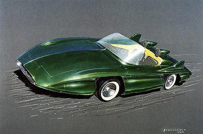 Primary image for 1957 Chevrolet Concept Car - Promotional Advertising Poster