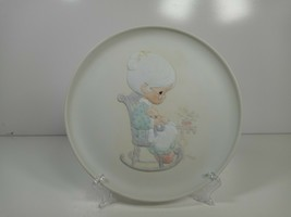 1981 Enesco Precious Moments Purr-fect Grandma Collectors Plate Mothers Love - $7.99