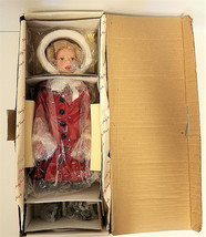 """Shirley Temple Doll Christmas Collection Danbury Mint """"Little Caroler"""" 17"""" - $37.64"""