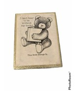 Boxed Set of Vintage Bookplates Labels Book Plates Teddy Bear - $11.65