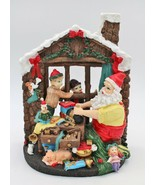 Santa Elves Workshop Scene Holiday Decor Christmas - $19.78