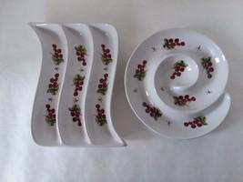 California Pantry Julia Junkin 2-piece Serving Dish Set Plate Relish Olive - $27.71