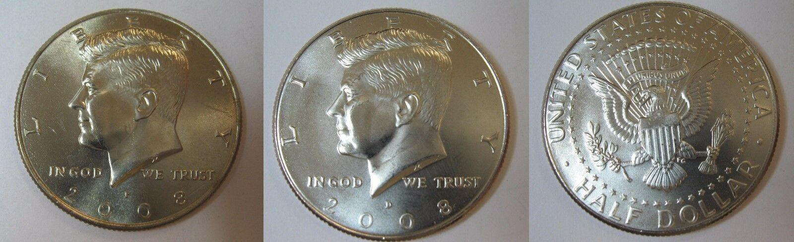 2008 P & D BU Kennedy Half Dollar from BU Mint Roll FREE Ship CP2436