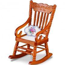 Dollhouse Grandma's Rocking Chair Reutter 1.733/0 Cushion Miniature Wood  - $19.95