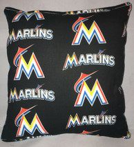 Marlins Pillow Florida Marlins MLB Pillow Handmade in USA. - $9.97