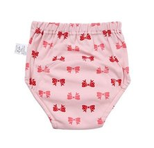 2 Pieces Of Bow-Knot Pattern Breathable Leakproof Baby Diapers